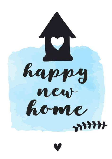 felicitatie happy  home zwart wit