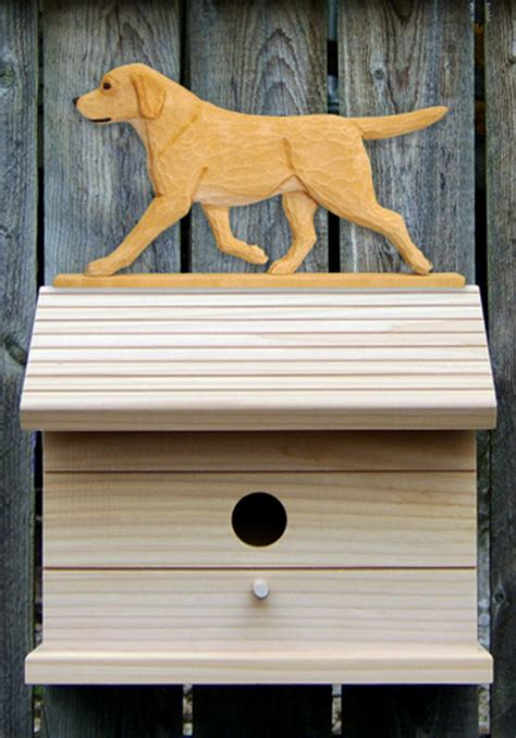 labrador dog house yellow labrador retriever hand painted dog bird house