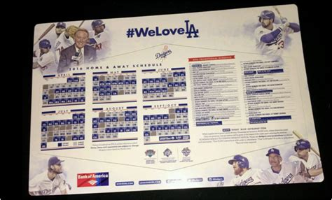 Dodger Schedule Giveaways - dodgers blue heaven a vin scully memorabilia checklist records magazine covers and