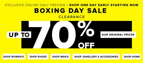 Hudson S Bay Canada Offers Save Up To 50 Select - hudson s bay canada exclusive boxing day boxing
