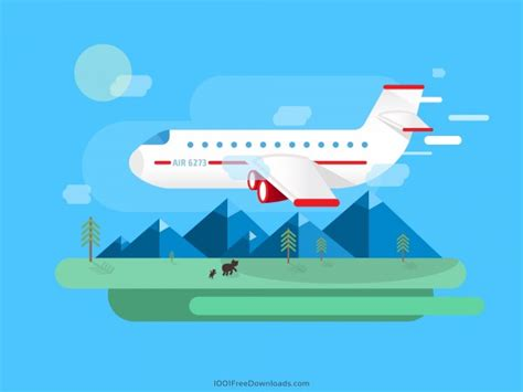 Harga Easter Pack flat airplane vector landscape freevectors net