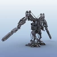Umakuka 3d Robot Tiger terminator robot motorcycle 3d model