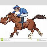 Cartoon race horse. Vector clip art illustration with simple gradients ...