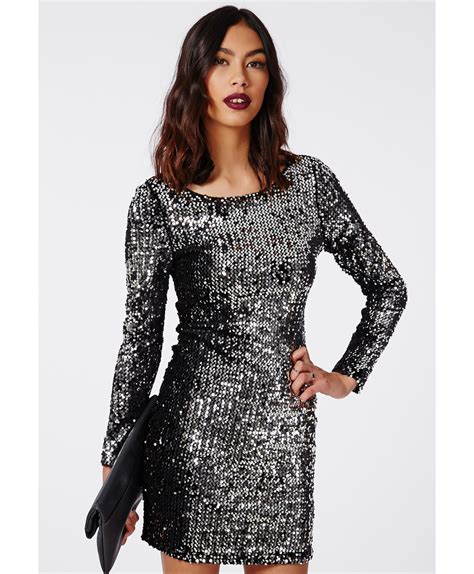 black long sleeve sequin dress black sequin long sleeve mini dress cocktail dresses 2016