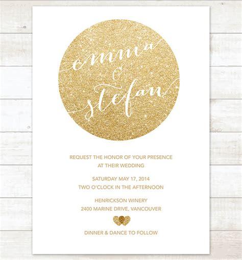 Hochzeitseinladung Gold by Wei 223 Gold Hochzeit Einladung Gold Glitter Herzen Einladung
