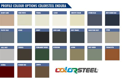 steel color colorsteel roofing nz coloursteel maxx endura