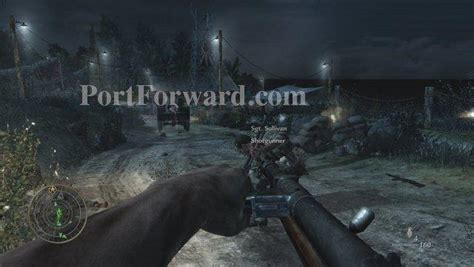 blow up boat head explodes call of duty 5 world at war walkthrough mission 1 semper fi
