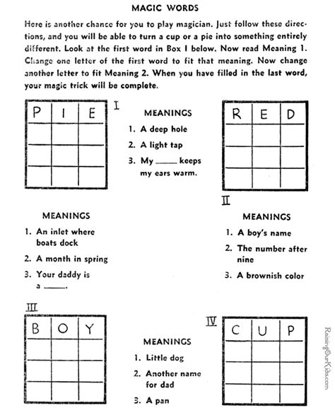 printable puzzles for kids free crossword puzzles 009