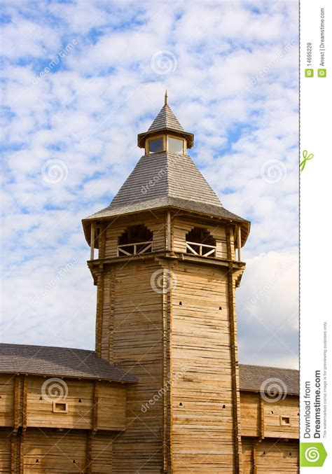 House Plans Free Download Medieval Wooden Guard Tower Stock Photo Image 14695228