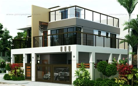 4 Bedroom Modern House Plans ester four bedroom two story modern house design pinoy