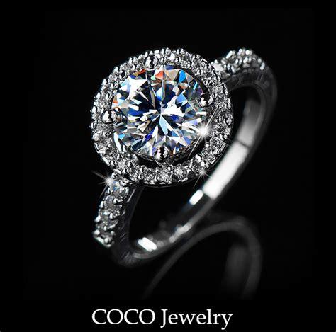 cz hearts arrows ideal cut luxury wedding ring