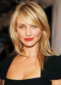shoulder sweep haircuts medium hairstyles with side swept bangs