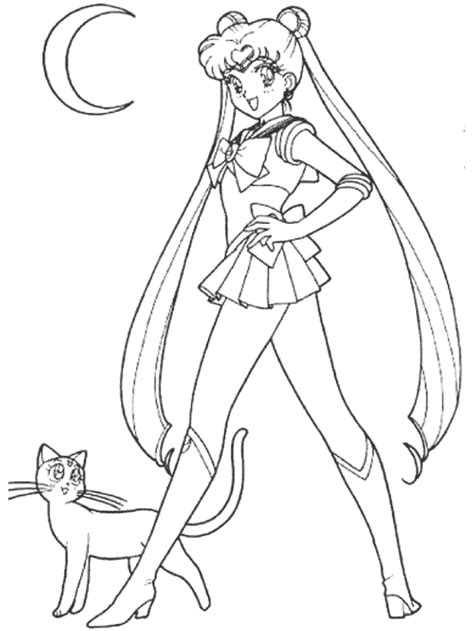 free coloring pages of sailor moon