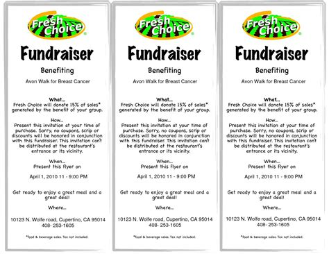 fundraising flyer template template design