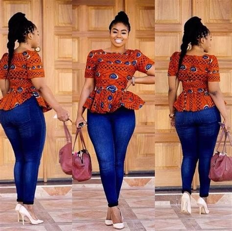 trending ladies fashion kenya latest trend top and jeans dress mixed prints the click