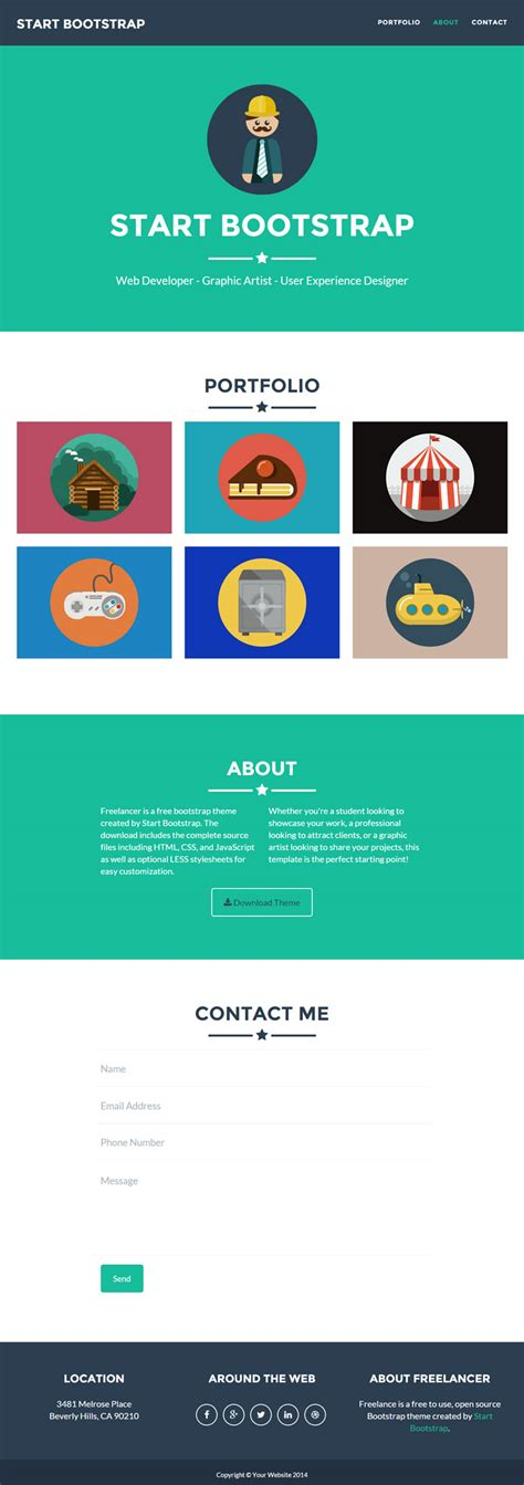 bootstrap newsletter template 400 free web templates collection freebies