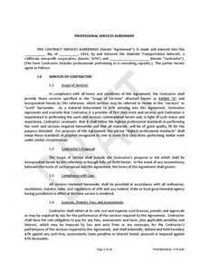 Agreement To Provide Services Template by Free Contract To Provide Services Template