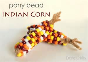 Indian Home Decor Ideas thanksgiving craft pony bead indian corn cutesy crafts