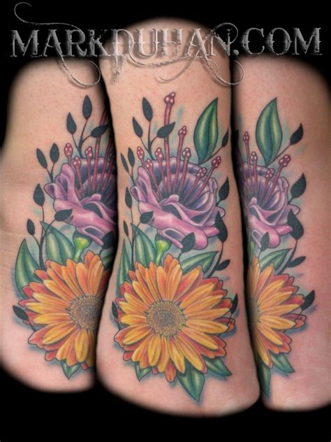fuschia tattoo designs fuschia and gerber tatto by amduhan on deviantart