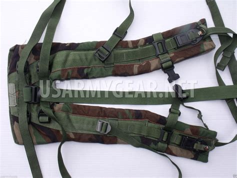 molle pack shoulder straps molle ii us army sds woodland back pack frame shoulder