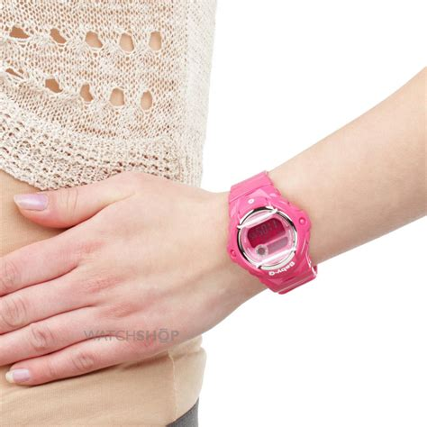pink g ladies casio baby g alarm watch bg 169r 4ber watch