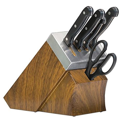 self sharpening kitchen knives buy chef s edge 10 piece self sharpening knife block set in black from bed bath beyond