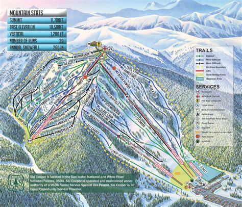 ski resort map usa cooper colorado ski country usa