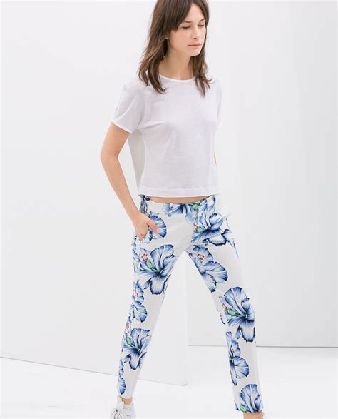 Zara Chrysan Floral my shopping bag floral trousers and printed tees