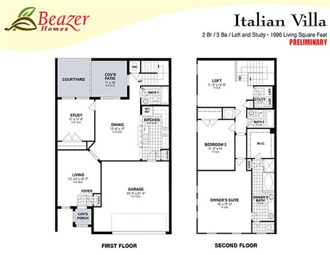 italian villa floor plans sumerlin at bartram park townhomes and terrace homes in jacksonville florida