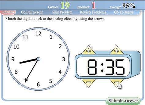 printable interactive clock digital clock worksheets for kindergarten time