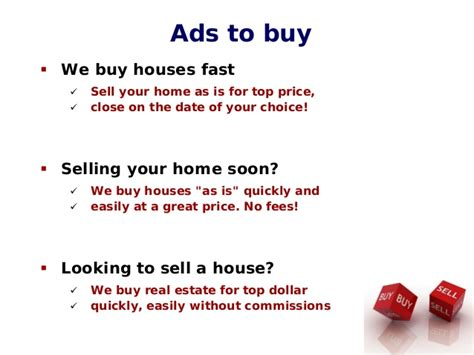 sell your house or we buy it how to write great real estate ads
