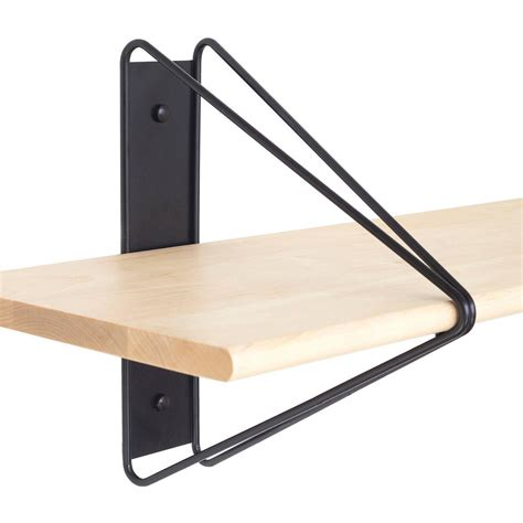 wall shelving brackets strut shelving system modern wood wall shelf with black brackets bookcase for sale at 1stdibs