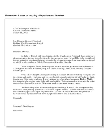 Inquiry Letter Method Letters In Pdf
