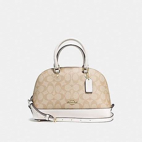 Coach Mini Signature Chalk 1 coach f58295 mini satchel in signature imitation gold light khaki chalk coach handbags