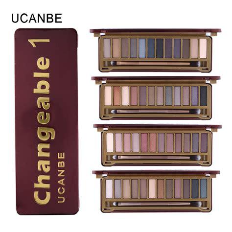 Naket 6 Make Up Set Dompet ucanbe brand new makeup eyeshadow palettes makeup brush 12 earth tone colors smoky eye