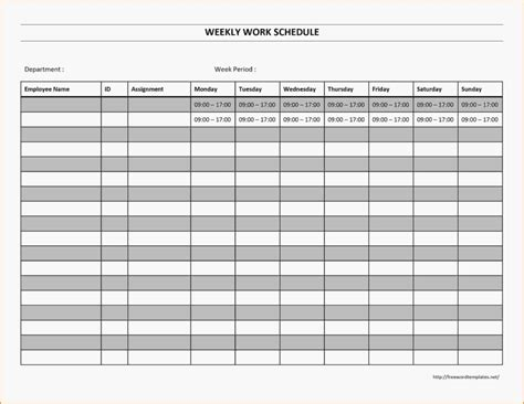 Excel Employee Schedule Template And Free Monthly Employee Work Schedule Template Excel Job Free Excel Weekly Schedule Template