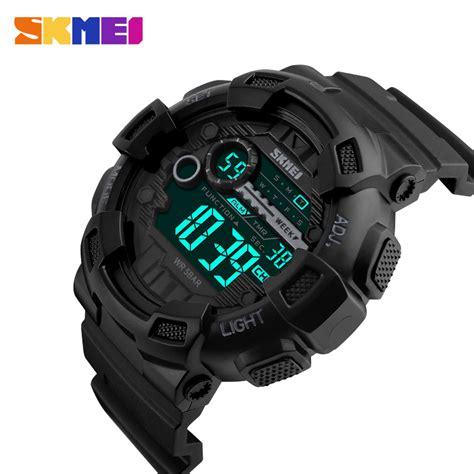 Review Jam Tangan skmei jam tangan digital pria dg1243 black