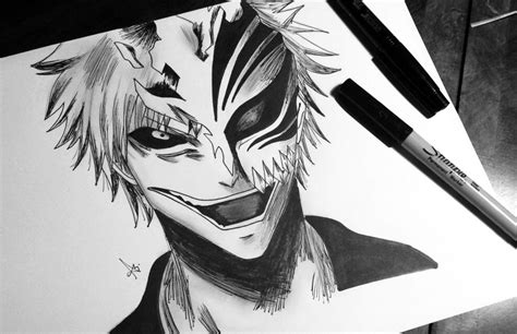 Ink Hollow ichigo hollow drawing ink illustration