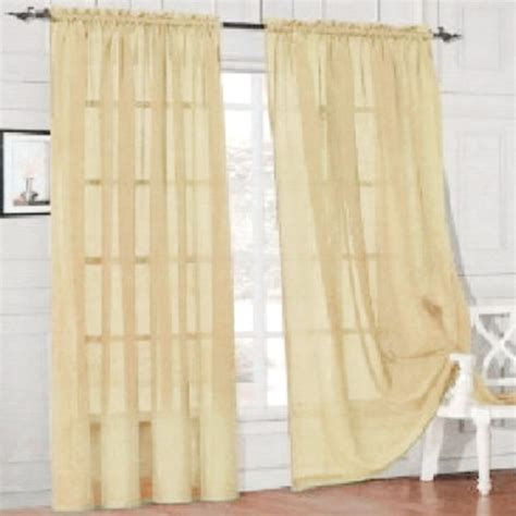 Voile Sheer Curtains Sheer Curtain Window Curtains Scarves Bedroom Voile Drape Panel Sheer Curtains Ebay
