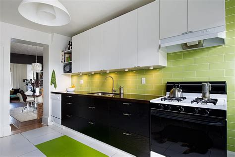 kitchen backsplash ideas a splattering of the most green and white kitchen ideas kitchen and decor