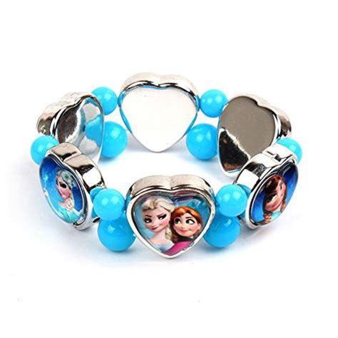 Gosford 2014 High quality XMAS Gifts Girls Disney Frozen Elsa Anna Kid Stretch Bracelet Girls