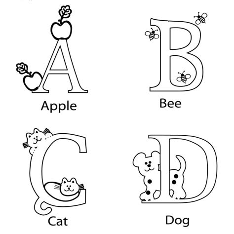 coloring pages abcd abcd coloring page for preschool printable worksheet for