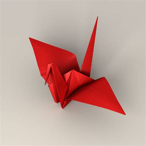 3d origami crane 3d japanese papercraft model