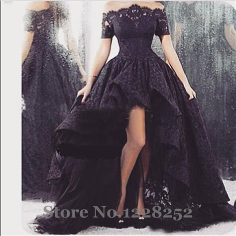 resort 2015 fashion trend black and white lace dior erdem 2015 arabic black lace prom dresses high low off shoulder