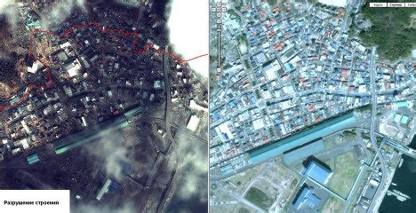 imagenes satelitales japon im 225 genes satelitales de jap 243 n tras el gran terremoto