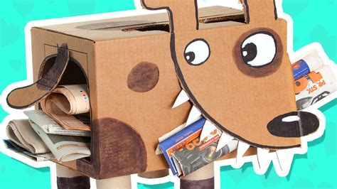 diy cardboard crafts cardboard puppy craft ideas with boxes diy on box