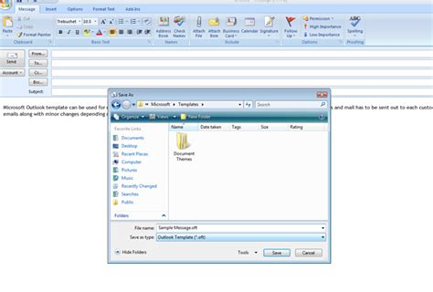 Outlook Message Template microsoft outlook 2007 message template for repeated