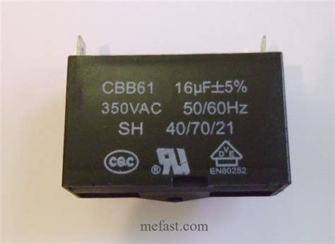 cbb61 16uf 350vac generator capacitor