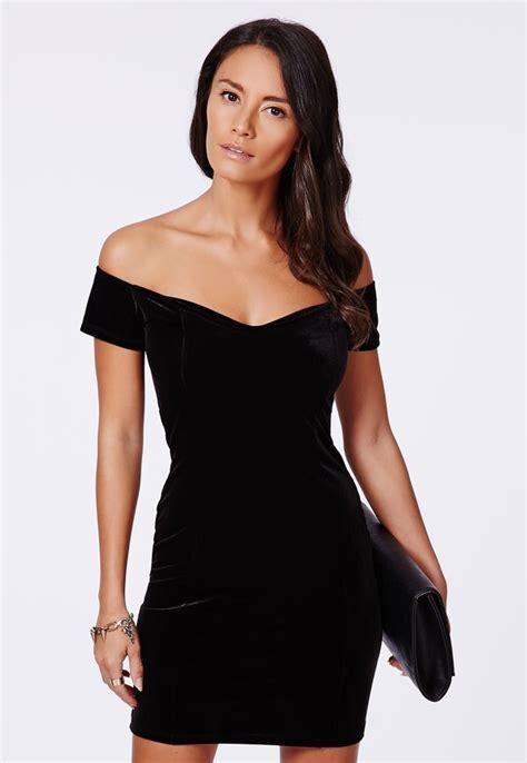 Buy Missguided Gift Card - missguided phyllis velvet bardot bodycon dress black