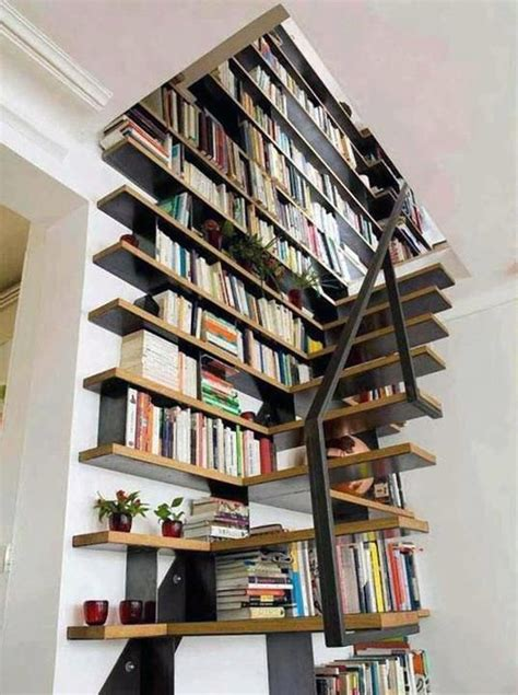 stair wall bookcase book designs